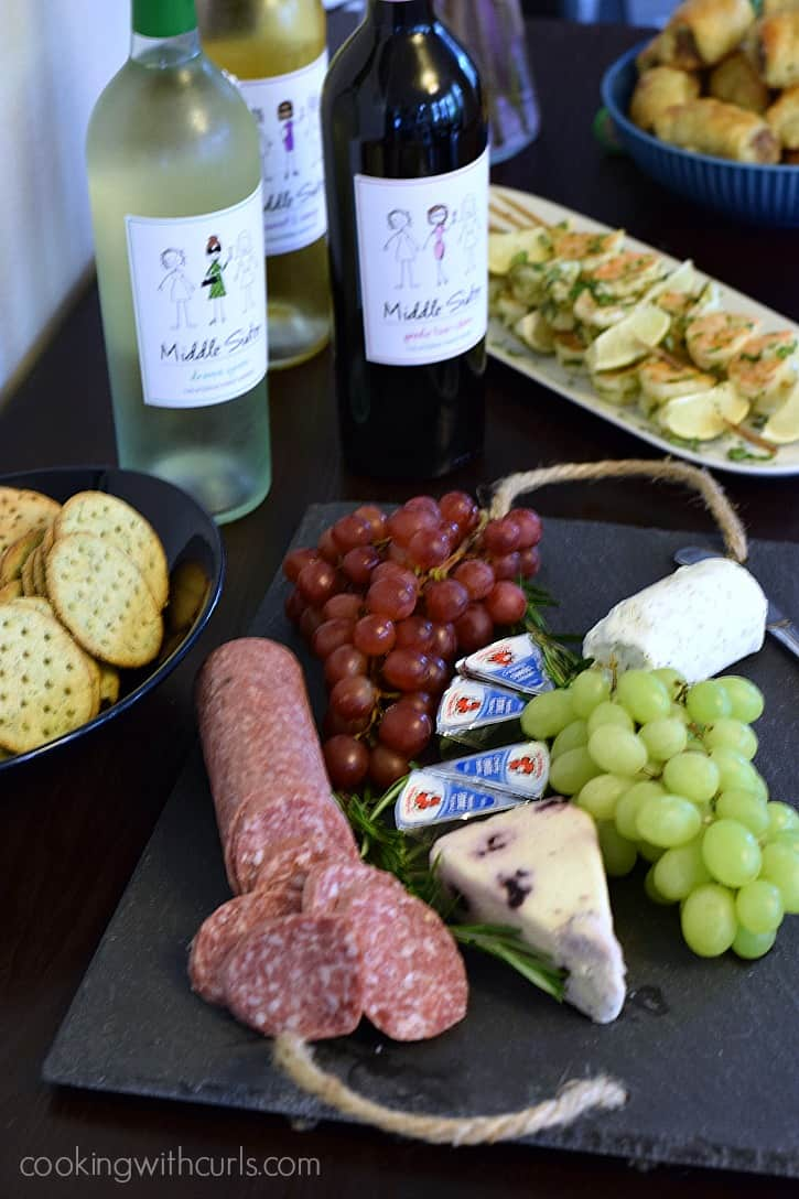 Meat and Cheese Platter with Middle Sister Wines  cookingwithcurls.com