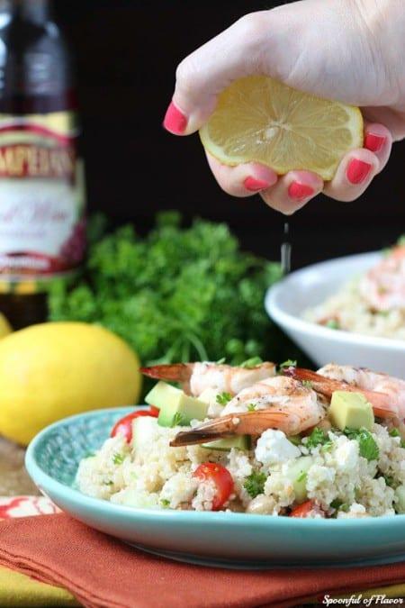 Mediterranean Grilled Shrimp Quinoa Salad