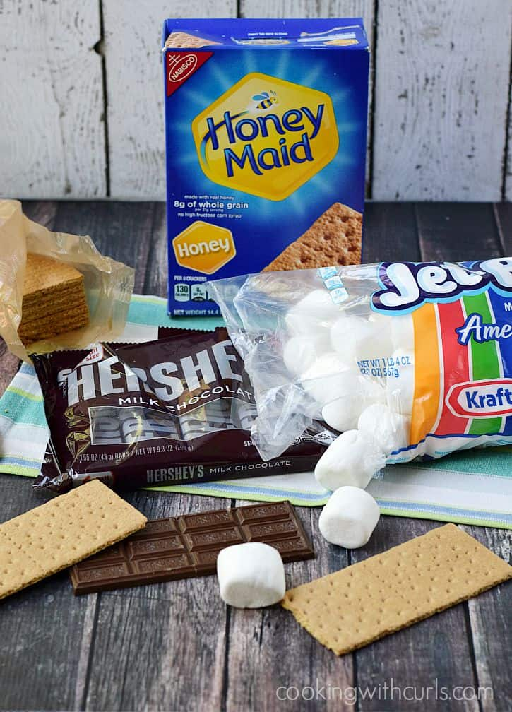 Outdoor S'mores cookingwithcurls.com #LetsMakeSmores #Ad