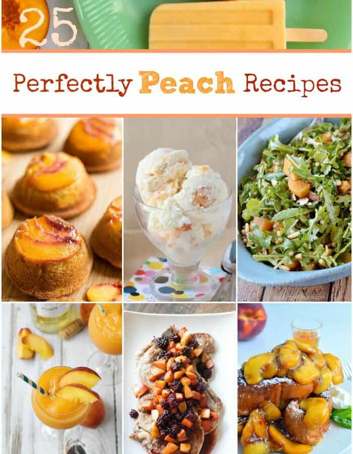 25 Perfectly Peach Recipes cookingwithcurls.com