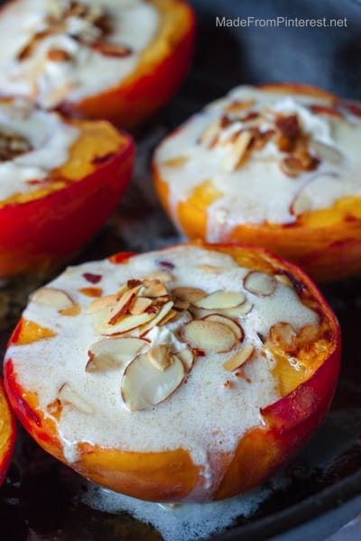 Baked-Peaches-and-Cream-delicious-with-toasted-almonds-and-a-sprinkle-of-cinnamon-sugar.