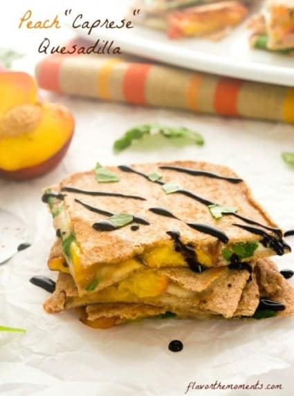 Peach Caprese Quesadilla