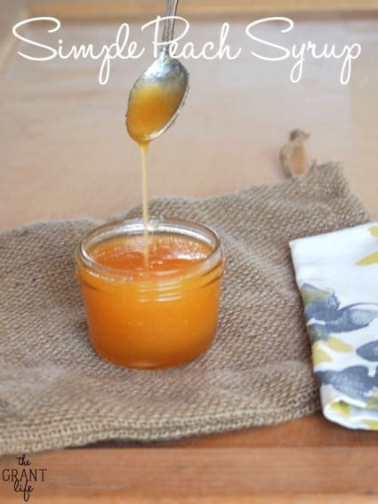 Simple Peach Syrup