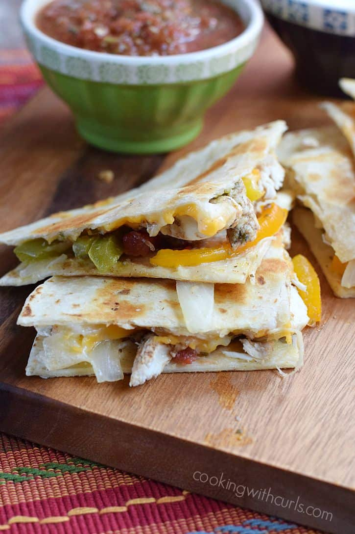 Chicken-Fajita-Quesadillas-with-melted-cheeses-and-grilled-to ...