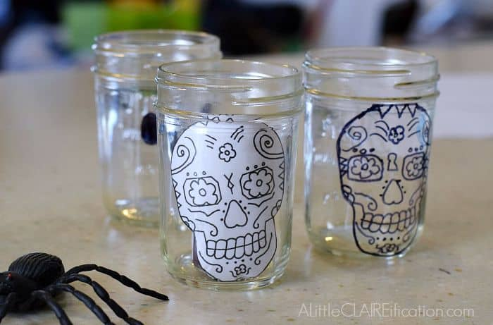 Draw Skull White Chocolate Mousse
