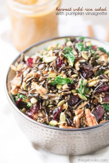 Harvest Wild Rice Salad with Pumpkin Vinaigrette