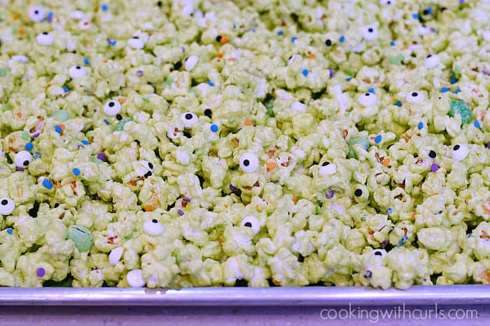 Monster Mash Popcorn eyes cookingwithcurls.com