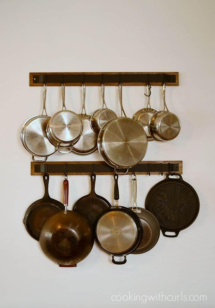 My new pot racks | cookingwithcurls.com