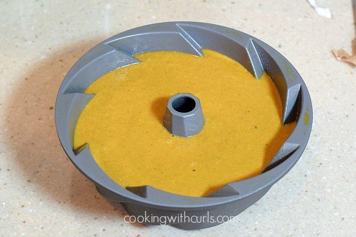 Pumpkintini Cocktail Cake pan cookingwithcurls.com