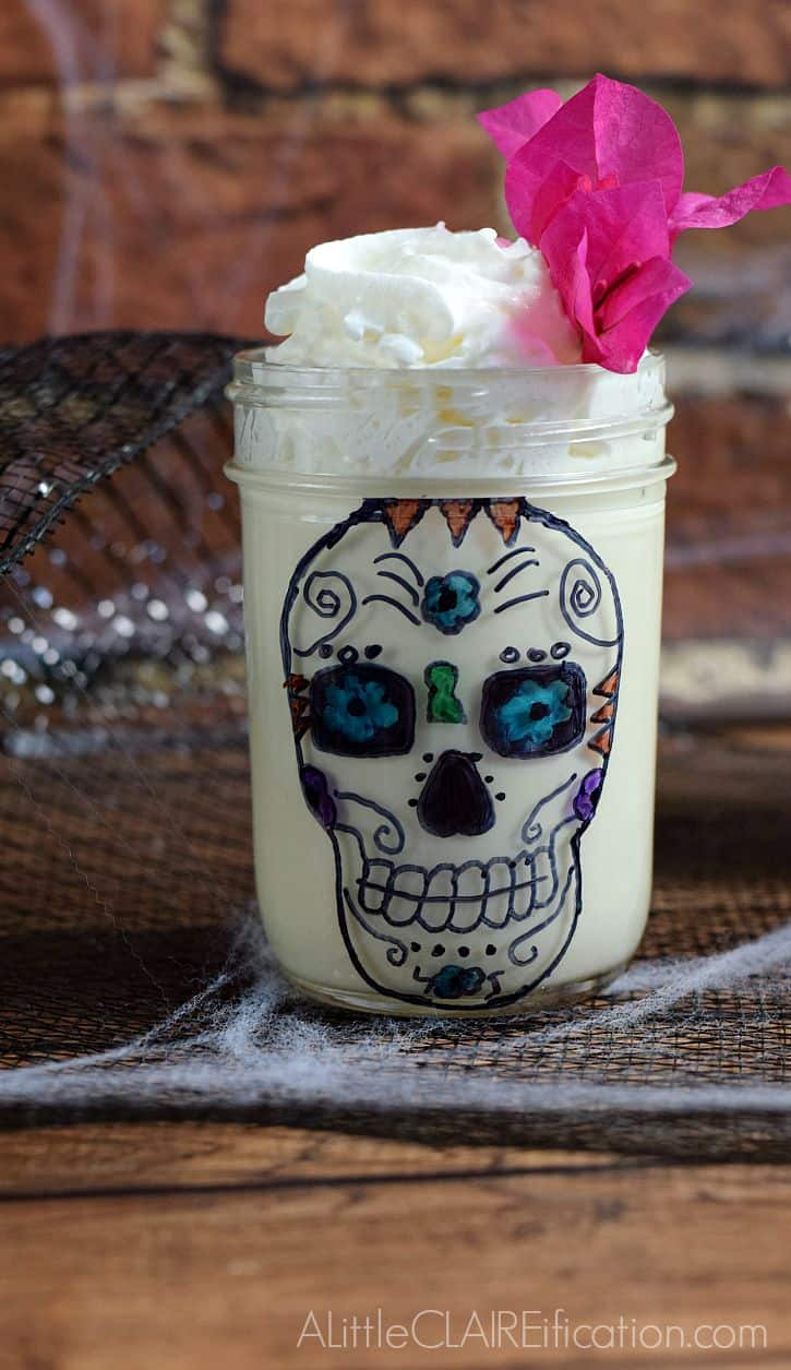 Skull White Chocolate Mousse