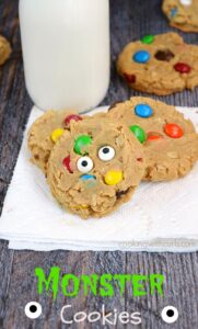 These fun Monster Cookies are a hit with kids and adults! cookingwithcurls.com