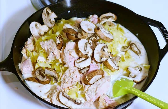Tuna Noodle Casserole mushrooms cookingwithcurls.com