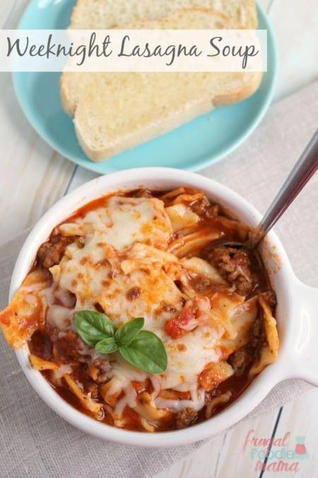 Weeknight Lasagna Soup