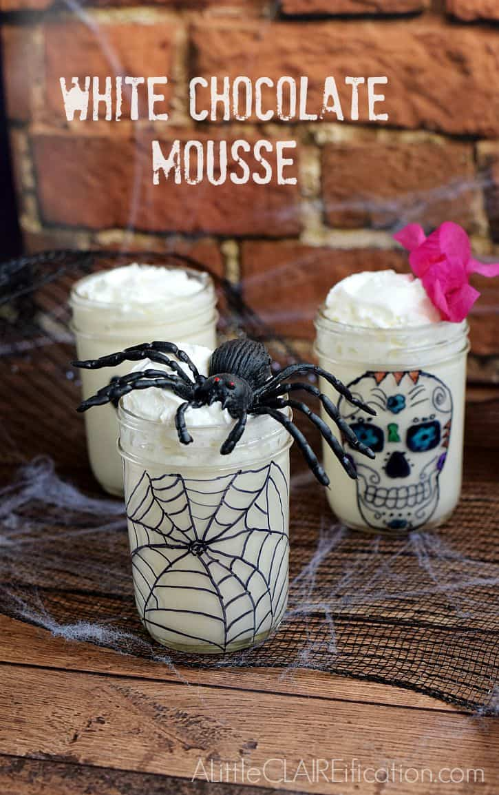 White Chocolate Mousse Halloween in a Jar ALittleCLAIREificaton.com