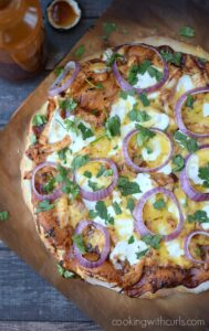 Barbecue Chicken Pizza | cookingwithcurls.com