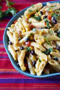 Cheesy and delicious with a touch of heat make this Fiesta Macaroni and Cheese the perfect meal for dinner tonight | Cheesy and delicious with a touch of heat make this Fiesta Macaroni and Cheese the perfect meal for dinner tonight | cookingwithcurls.com