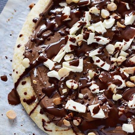 Chocolate Hazelnut Pizza