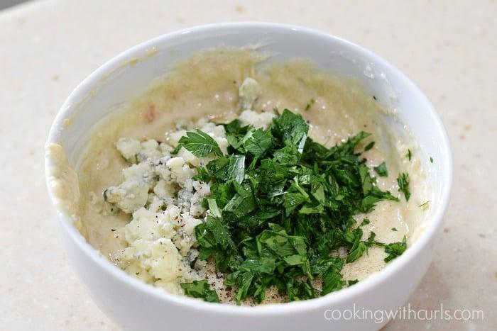 Gorgonzola Butter mix cookingwithcurls.com