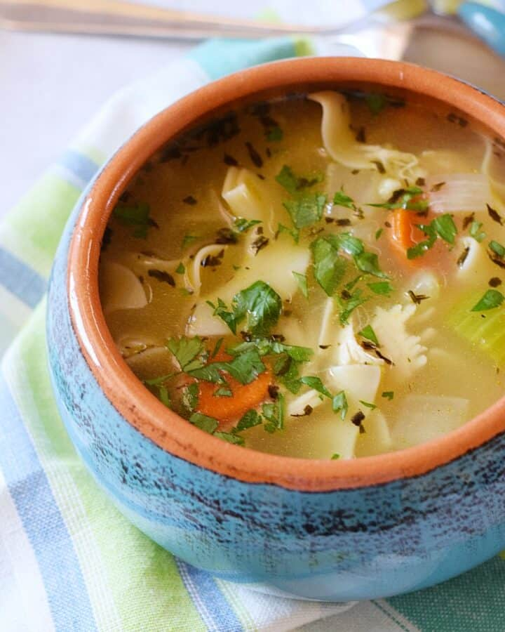 Homemade Chicken Noodle Soup | cookingwithcurls.com