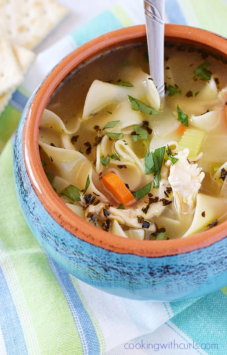 Homemade Chicken Noodle Soup is much easier to make than you think, and it's totally worth it | cookingwithcurls.com