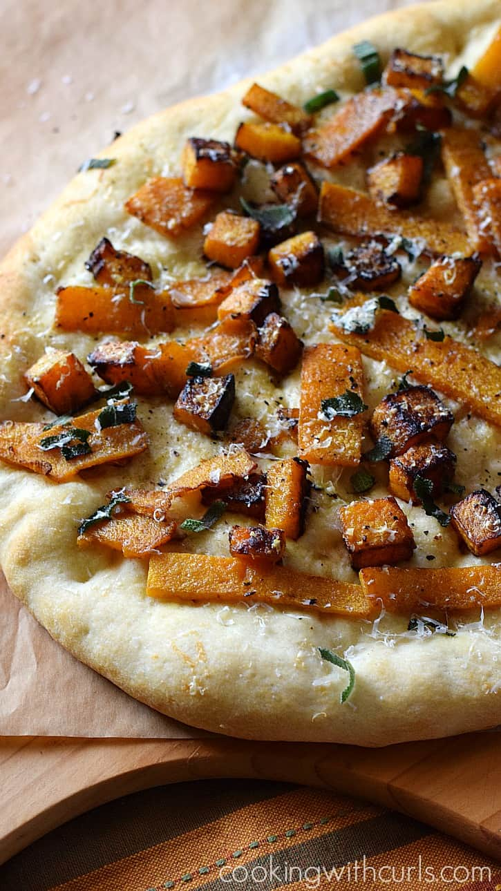 Butternut Squash Pizza cookingwithcurls.com