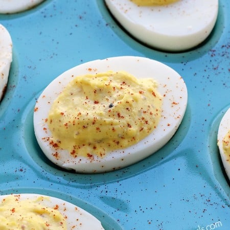Classic Deviled Eggs, a must have appetizer for holidays and parties   cookingwithcurls.com