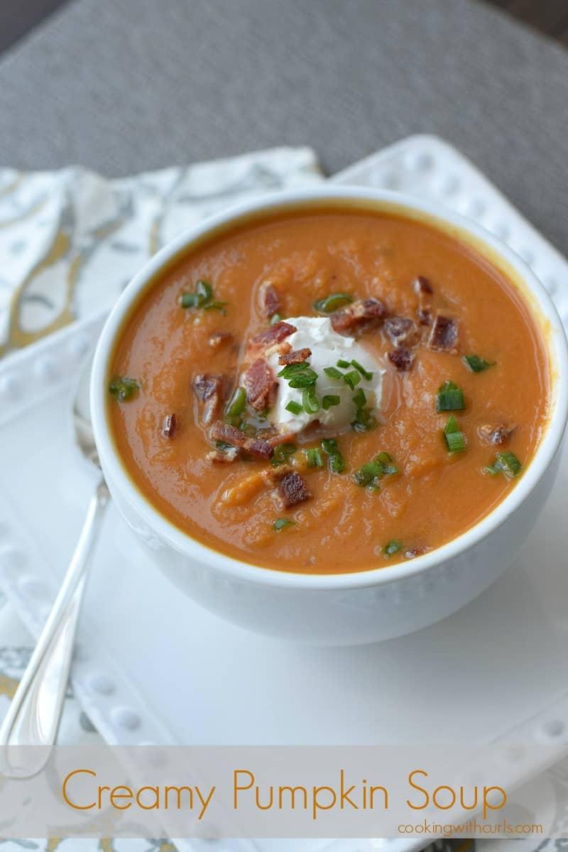 Creamy Pumpkin Soup cookingwithcurls.com