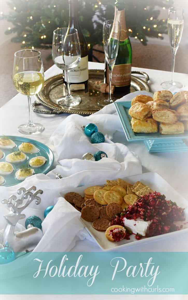 Celebrate the holidays with a cocktail party filled with delicious appetizers and wine   cookingwithcurls.com #BeGlorious #CG