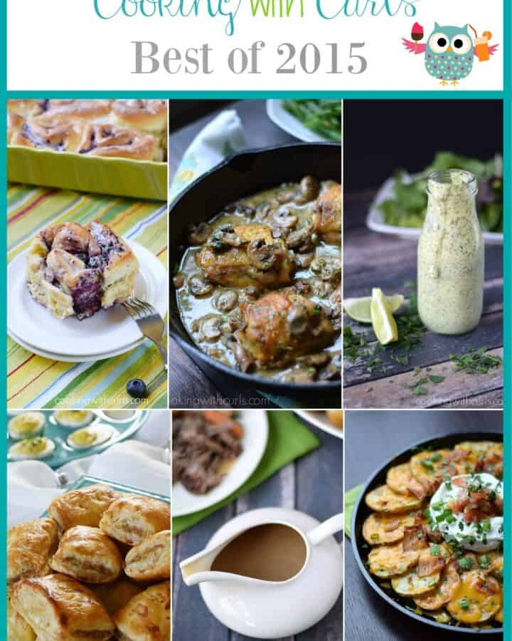 Cooking with Curls Best of 2015 - the most popular recipes of the year | cookingwithcurls.com