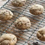 These Triple Ginger Chocolate Chunk Cookies are my new favorite holiday cookies! cookingwithcurls.com