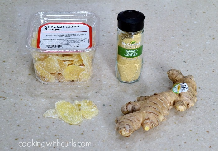 Triple Ginger Chocolate Chunk Cookies ginger cookingwithcurls.com