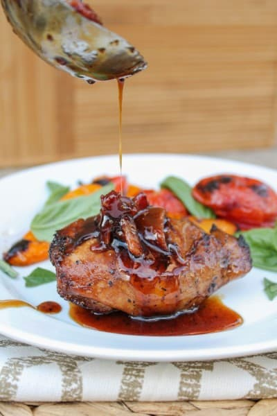 Balsamic Grilled Chicken Spicy Honey Bacon Glaze