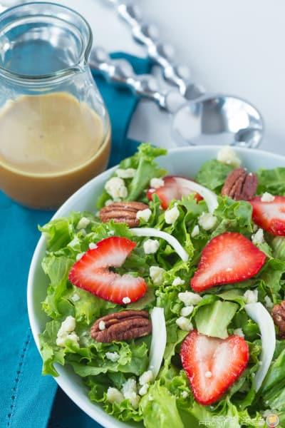 Strawberry Salad with Orange Vinaigrette Dressing