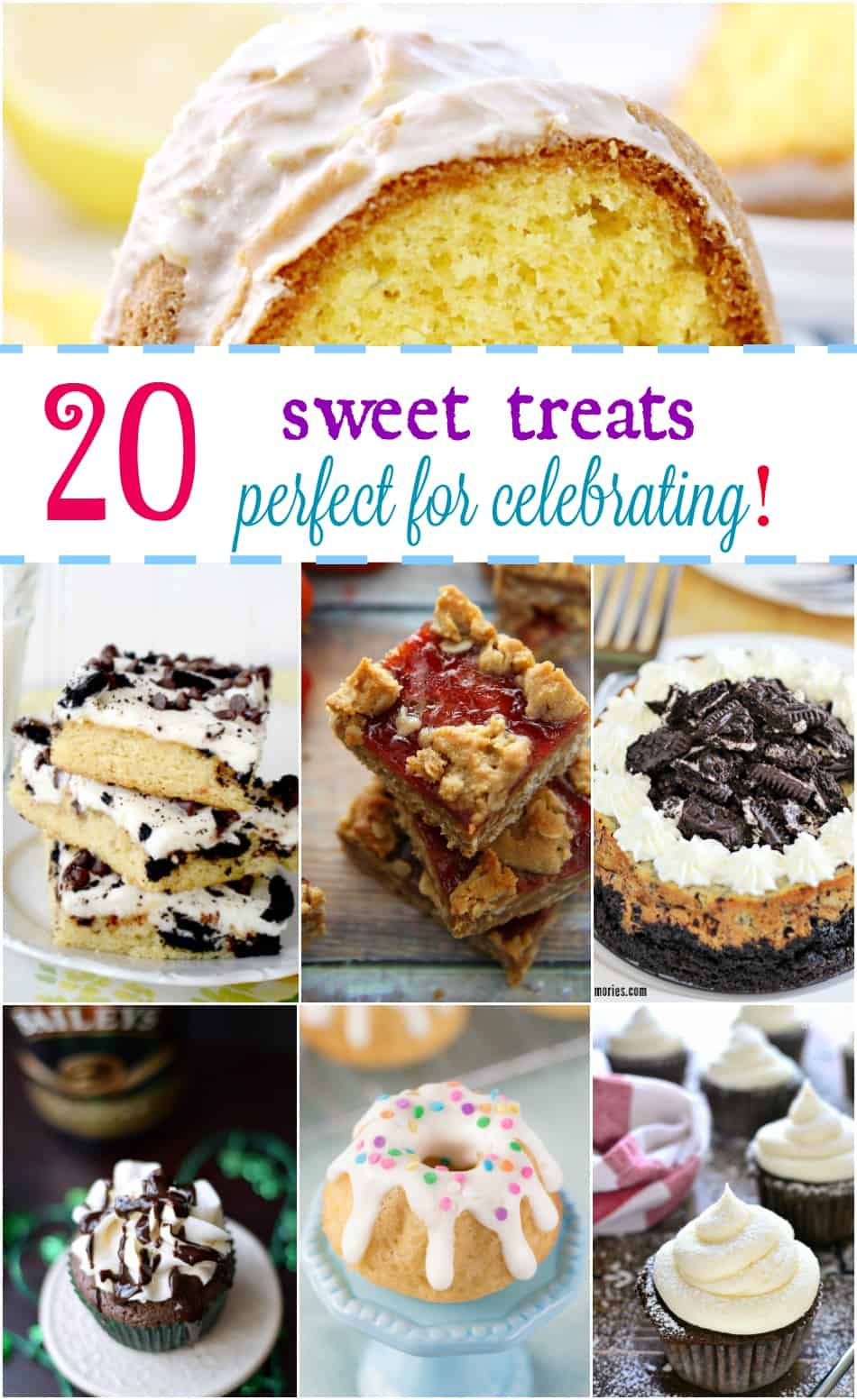 20 Sweet Treats Perfect for Celebrating! cookingwithcurls.com