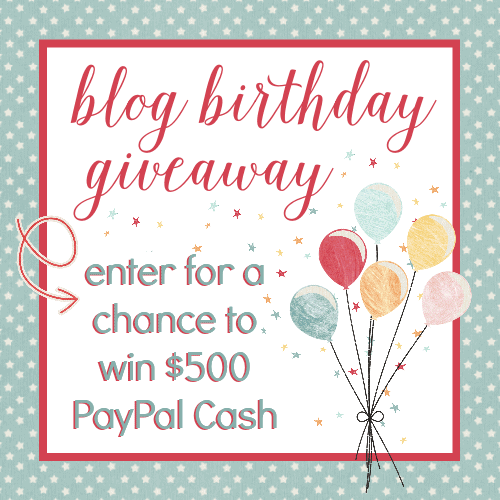 $500 PayPal Cash Blog Birthday Giveaway | cookingwithcurls.com