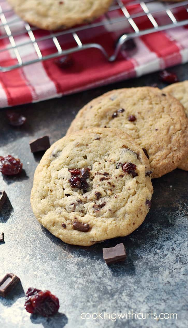 Buttery, chewy Chocolate Chunk Cherry Cookies are perfect for any occasion! cookingwithcurls.com
