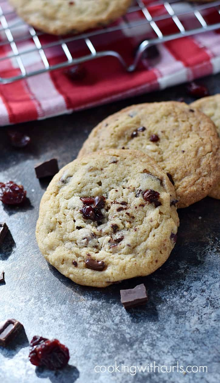 Buttery, chewy Chocolate Chunk Cherry Cookies are perfect for any occasion | cookingwithcurls.com
