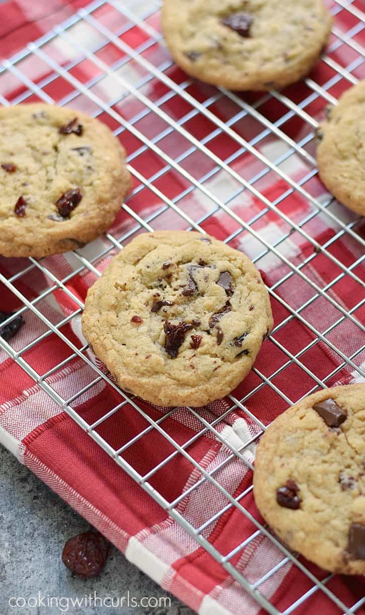 Chocolate Chunk Cherry Cookies! cookingwithcurls.com