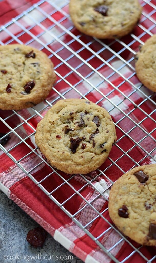 Chocolate Chunk Cherry Cookies - Cooking With Curls