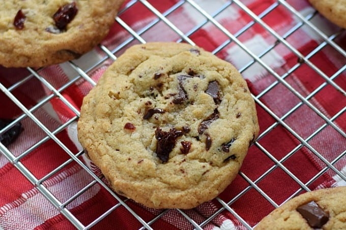 Chocolate Chunk Cherry Cookies   cookingwithcurls.com