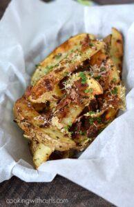 Baked Parmesan-Bacon Garlic Potato Wedges