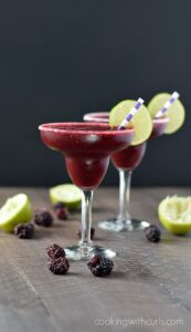 Frozen Blackberry Margaritas