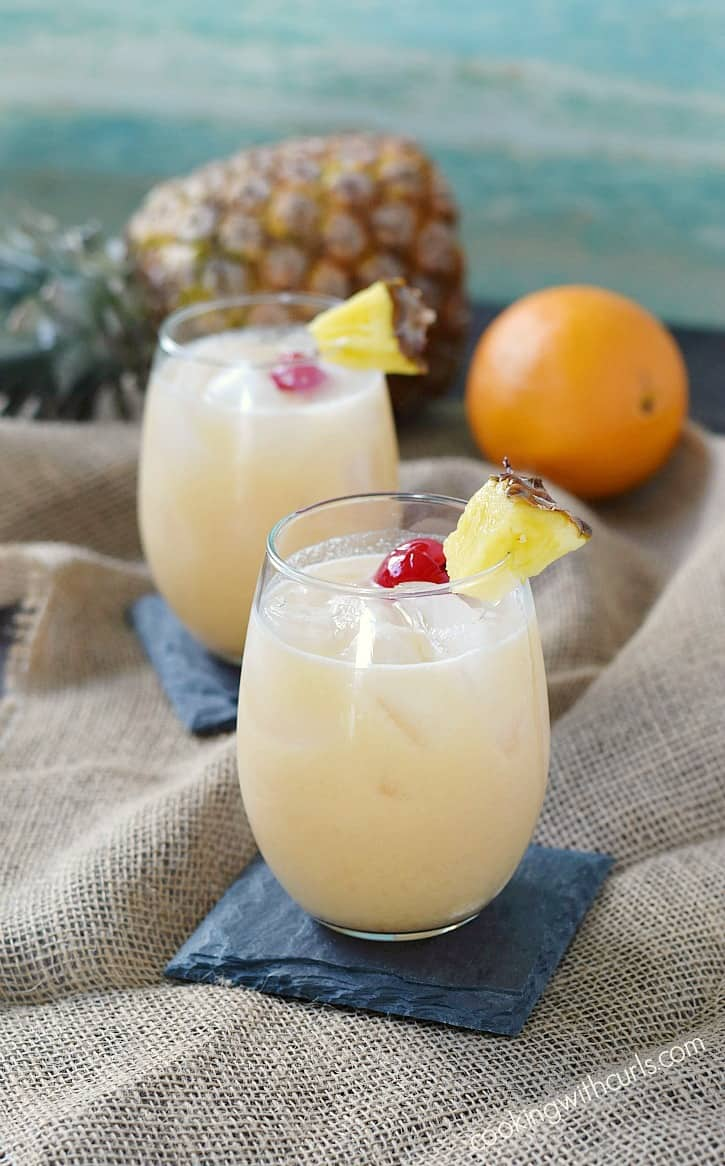 Kick back, relax, and enjoy a Tropical Painkiller...or two!! cookingwithcurls.com