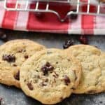 Melted chocolate and tart cherries come together to create these chewy and delicious Chocolate Chunk Cherry Cookies!! cookingwith
