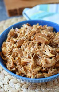 Slow Cooker Shredded Barbecue Chicken