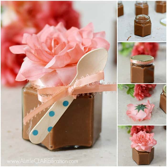 Spoon Fudge In Jars - Delicious Wedding Favors or party gifts.