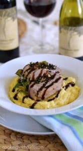 Tuscan Stuffed Pork Loin and Creamy Polenta