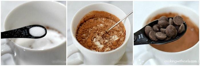 Caffè Mocha Mug Cake step 3 cookingwithcurls.com