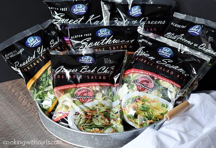 Eat Smart Gourmet Vegetable Salad Kits cookingwithcurls.com
