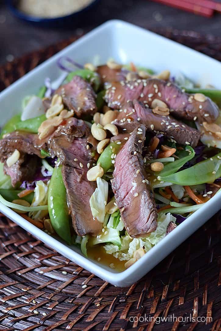 Ginger Beef Bok Choy Salad cookingwithcurls.com #EatSmartVeggies #ad